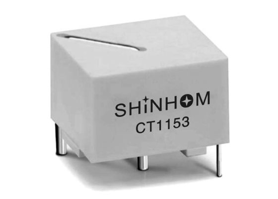 White Current Sense Transformer Up To 25A Input Stable Epoxy Encapsulation