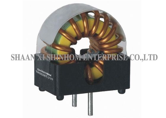 High Frequency Common Mode Choke , Toroidal Choke Coil Low Resistance
