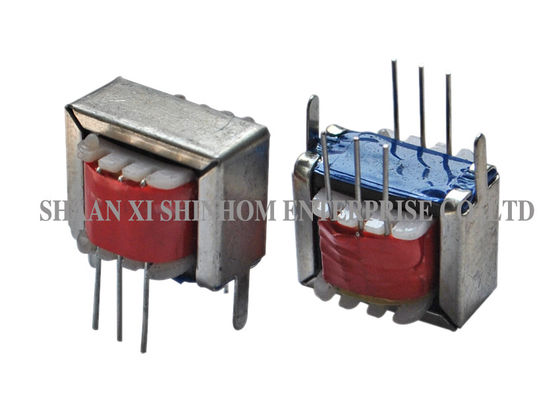 China Portable Audio Frequency Transformer , Ei Type Transformer With Frame / Lead Wire factory