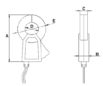 0 - 1000A Single Phase Clamp On Current Transformer Split Core Completely Enclosed